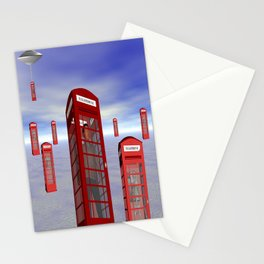 Alien London Phone Box Abduction Stationery Cards