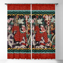 Kabuki Samurai Warriors Blackout Curtain