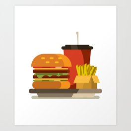 Cheeseburger Meal Art Print