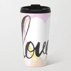Watercolor floral love Travel Mug