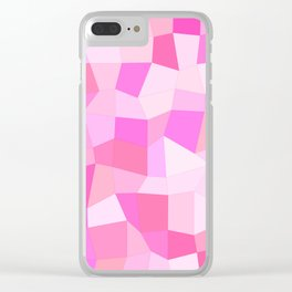 Bright Pink Mosaic Clear iPhone Case