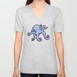 happy octopus ice cream time Unisex V-Neck