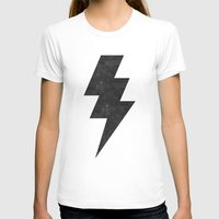 lightning T-shirts featuring lightning strike by Vin Zzep