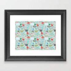 Kitchen Pattern Framed Art Print