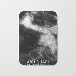 Abu Dhabi - United Arab Emirates glow city map art print Bath Mat