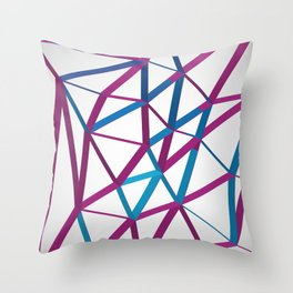 3D Futuristic GEO Lines Throw Pillow