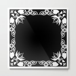 Black and white abstract pattern . Metal Print