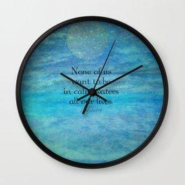 Sea Ocean Jane Austen quote Wall Clock