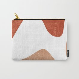 Terracotta Art Print 7 - Terracotta Abstract - Modern, Minimal, Contemporary Print - Burnt Orange Carry-All Pouch