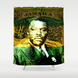 Marcus Garvey Jamaican Freedom fighter Shower Curtain
