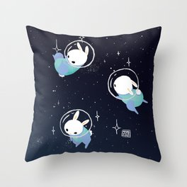 Space Bunnies Throw Pillow