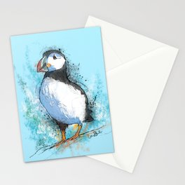 Inky Puffin Stationery Cards