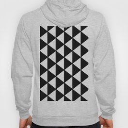 Black And White Triangles Pattern Hoody