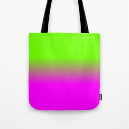 Neon Green and Hot Pink Ombré  Shade Color Fade Tote Bag