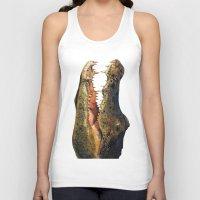 crocodile Tank Tops featuring Crocodile by Anna Milousheva