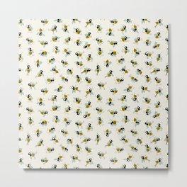 Dancing bee pyjama pattern Metal Print