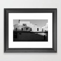 Shadows Falling Framed Art Print