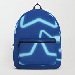 Three Neon Blue Stars Backpack