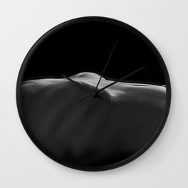 Woman's Torso in Black and White Wall Clock