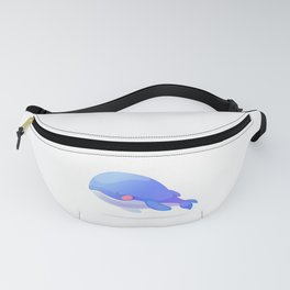 Cute whale. Vector graphic character Fanny Pack