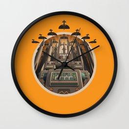Robots Unite! crest variant Wall Clock