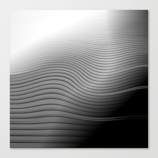 Metal. Wave. Canvas Print