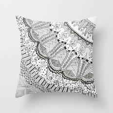 Doodle Madness Throw Pillow