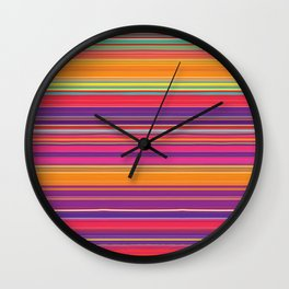 Running Stripes Wall Clock