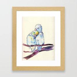 Love birds (2) Framed Art Print