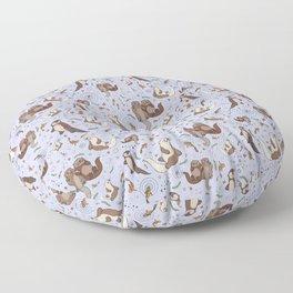 Sea Otters Floor Pillow