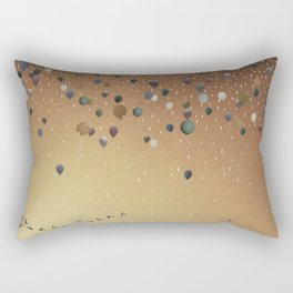 Innumerable wandering balloons Rectangular Pillow