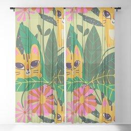 Cat Sheer Curtain