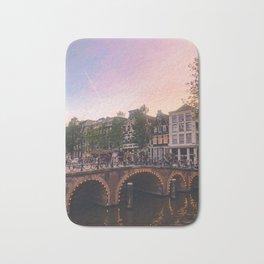 An Evening Stroll through Amsterdam Bath Mat