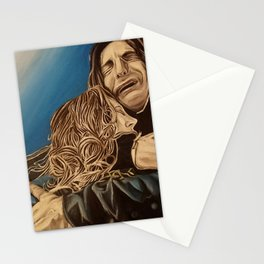 Severus and Lily, oil painting Stationery Cards