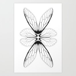 Cicada wings Art Print