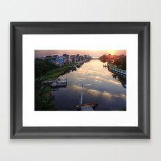 Sunset from Buccaneer Drive Framed Art Print