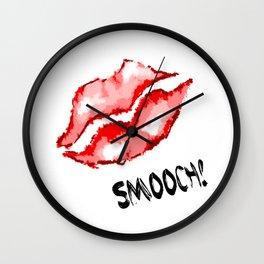 Smooch! Lips Wall Clock