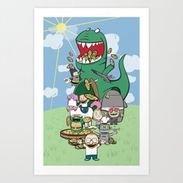 Ultimate Pizza Party Art Print