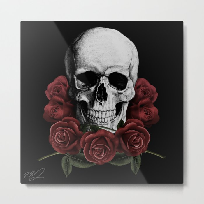 BOUQUET OF DEATH Metal Print