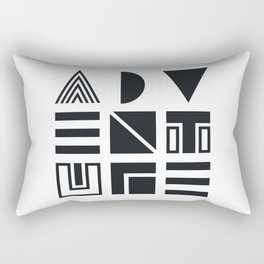 Geometric Adventure B&W Rectangular Pillow