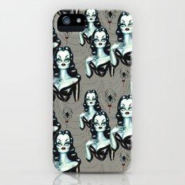 Vampire Vixen with Black Widow Spider iPhone Case