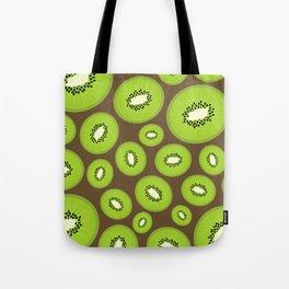 Kiwi Fruit Pattern (Brown) Tote Bag