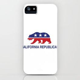 California Political Republican Bear  iPhone Case