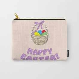 happy easter with basket Carry-All Pouch