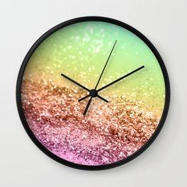 Rainbow Girls Glitter #2 #shiny #decor #art #society6 Wall Clock