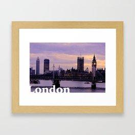 London in the evening Framed Art Print