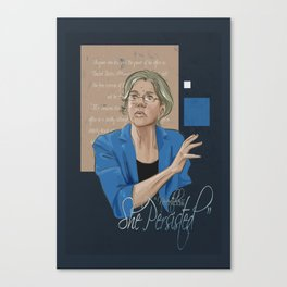 """Nevertheless, She Persisted"" Canvas Print"