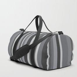 Grey Stripes Duffle Bag