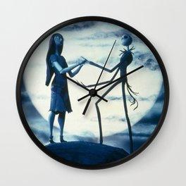 jack and sally love Wall Clock