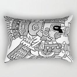 Ancient Mexican Design Rectangular Pillow
